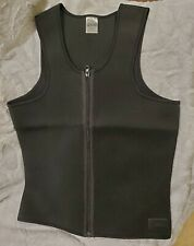 Men's Zipper Neoprene Sauna Vest Weight Loss Shirt Sweat Body Shaper Black. Med
