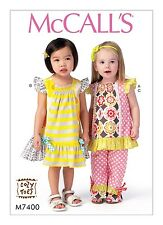 SEWING PATTERN!  MAKE TODDLER GIRL TOP~DRESS~PANTS! SIZE 1/2~4! SUMMER CLOTHES