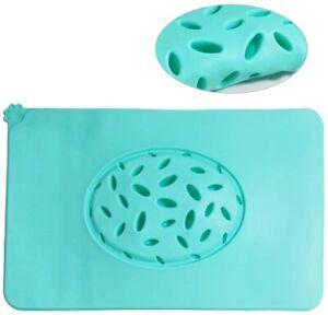 Pet Feeding Mat, Dog Slow Feeder  Silicone Non-Slip Waterproof Food Mat