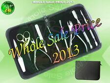 9-Piece Manicure Set in Black Leather Case