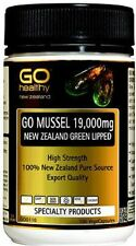 GoHealthy GO Mussel NZ Green Lipped Mussel 19,000 HIGH STRENGTH 100 Capsules