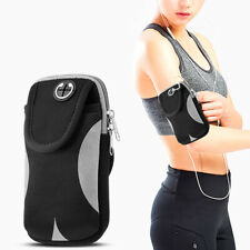 UNIVERSAL CONVENIENT POUCH WITH ADJUSTABLE SPORTS ARMBAND - BLACK & GREY