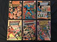 JUSTICE LEAGUE OF AMERICA Silver Age Lot of 6 Comics: #41,44,49,61,63,76: VG AVG