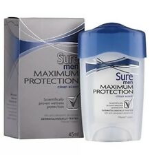 Sure Men Maximum Protection Clean Scent Antiperspirant Deodorant Cream - 45 ml