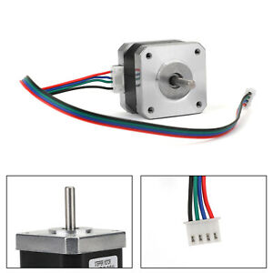 Metal Nema 17 Stepper Motor 0.4A 12/24V 42x34mm 1.8°for 3D Printer CNC New
