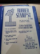 Xlent Software 1986 Rubber Stamp St Atari 520 St Computer Disk Booklet