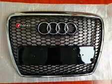 For AUDI A6 C6 RS6 05-11 Bumper Radiator Chrome Frame Trim Black Grill Grille
