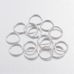 100x 8mm jump rings high quality close unsolder platinum jump single ring loop