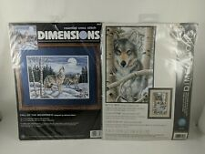Dimensions Cross Stitch Kits Call Of The Wilderness And Wintry Wolf NIP