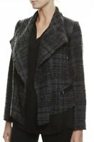 SPORTSCRAFT Gorgeous Wool Leather Drape Texture Boucle Jacket Size 12