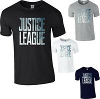 Justice League Mens T-Shirt Wonder Woman Superhero DC Comics Superman Batman Top