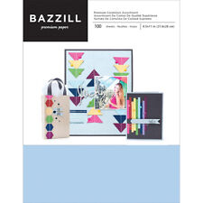 """American Crafts Bazzil Basics 8.5"""" x 11"""" Multicolored Cardstock Set - 100 Sheets"""