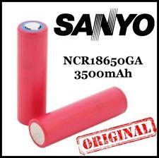 2x PANASONIC / SANYO Li-ion battery NCR18650GA 3500mAh Flat Top High Drain SMOK
