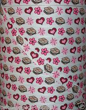 """5 yards 3/8"""" M2MG ALPINE SWEETIE SMORES CAMPFIRE GROSGRAIN RIBBON 4 BOWS"""