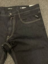 Replay Mens Forever Dark Original Jeans 36/32 Skinny