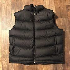 Marmot Black Goose Down Puffer Vest Men's XXL 2XL Elastic-Bound Arm Holes Puffy