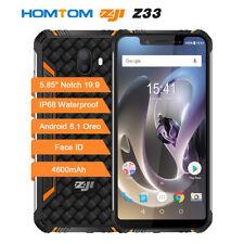 5.85'' 4G HomTom Zoji Z33 Smartphone Waterproof IP68 3GB 32GB 4600mAh Face iD UK