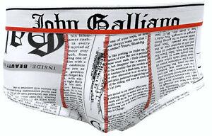 Mens Briefs JOHN GALLIANO Man Underwear Printed With Print White