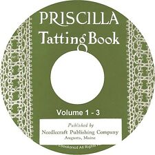 Priscilla Vintage Tatting Pattern Instructions Illustrations 3 Vol Books on CD