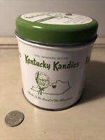Vintage Col Sanders Kentucky Kandies 7 oz Danville KY Tin