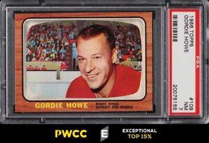 1966 Topps Hockey Gordie Howe #109 PSA 7 NRMT (PWCC-E)