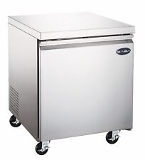 "SABA 27"" Commercial Undercounter Freezer, Stainless Steel Food Storage"