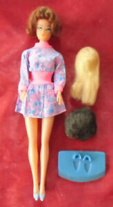 Petra - Bild Lilli/Barbie clone - with original Outfit, 3 wigs and 1 stand 1970s