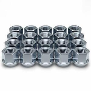 20 LUG NUTS CHROME OPEN END 14x1.5 14x1.5mm 14 x 1.5 CHEVY FORD GM GMC TAHOE