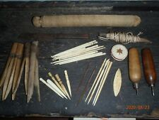 Mid 19th century Sailors lot. Sailor made items from a large sailmakers trade.