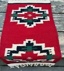 Brand New Pakistani Kilim Flat-Weave Small Tribal Red Accent Rug/Tapestry, 1x2