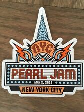 PEARL JAM TOUR STICKER MSG NYC NY 5/2/2016 EDDIE VEDDER NEW YORK