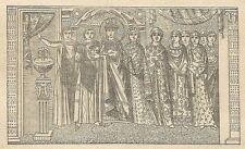 A4269 L'Imperatrice Teodora (da mosaico) - Incisione - Stampa Antica del 1887