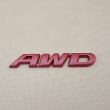 Metal AWD Letters Red Logo Badge Car Door Trunk Emblem Sticker Decal Accessories