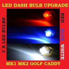 LED DASH SPEEDO UPGRADE BULB GOLF CADDY JETTA MK1 MK2 GTI RED WHITE BLUE NEW