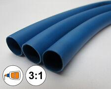 "(2 FEET) 1/8"" Blue Heat Shrink Tube 3:1 Dual Wall Adhesive Glue Marine/to 0.125"""