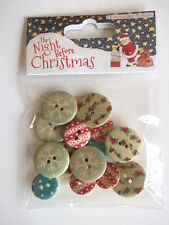 Dovecraft The Night Before Christmas - Wooden Buttons 16pcs