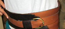 "Original Hand made Womens Brown Belt Genuine Leather Size 44"""