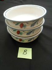 "New Listing3 Lenox Chinastone *Poppies On Blue* 6 1/4"" Soup/Cereal Bowls ~ Excellent Lot B"