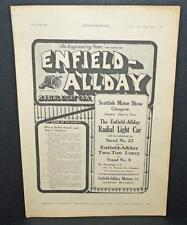 Old 1920 Motoring Magazine Car Sales Advert -The Enfield-Allday Radial Light Car