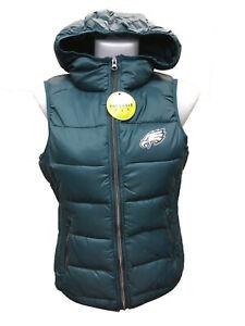 G-III 4her Philadelphia Eagles Women's Free Agent Packable Vest - Marine Green