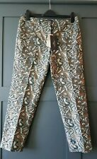 Weekend Maxmara Cigarette Jacquard Trousers UK 12 I 44 US 8 EU 40  £190