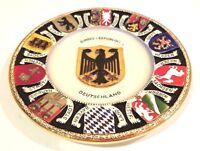 "Bundes-Republik Coat of Arms Vintage 11"" ceramic plate West Germany Collectible"