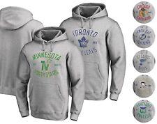 NHL Men's Vintage Heritage Pullover Hoodie Sweatshirt - Gray S - 2XL