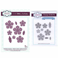 Sue Wilson Craft Die and Matching Rubber Stamp Set - CED1432 Filigree Peony