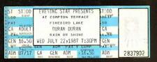 DURAN DURAN FULL UNUSED TICKET 7/22/87 COMPTON TERRACE PHOENIX, AZ ORIGINAL!