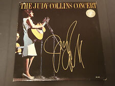 JUDY COLLINS SIGNED AUTOGRAPHED LP RECORD ALBUM THE JUDY COLLINS CONCERT RARE