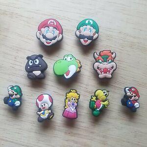 10 Nintendo Croc Shoe Charms - Mario Bowser Yoshi Luigi Peach + More