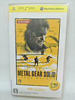 Sony PLAYSTATION Psp Portable - Metal Gear Solid Peace Walker the Best Japan See