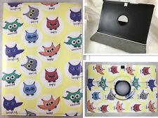 "Cover Case Tablet bq aquaris M10 10 "" Swivel 360º Drawing Owls"
