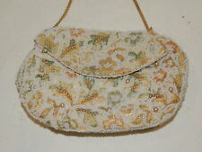 Vintage Delill 1950's Beaded / Embroidered Purse